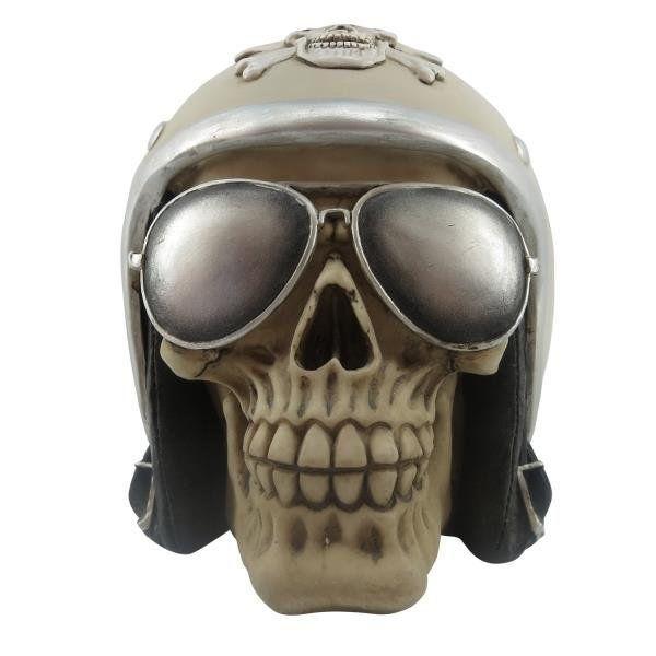Caveira Skull Capacete Vintage