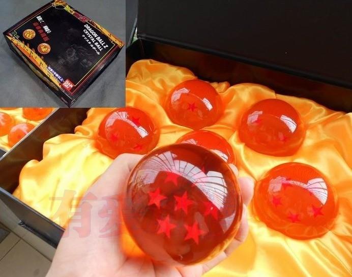 Réplica Esferas do Dragão Grande Com Caixa (Conjunto com 7 Esferas)