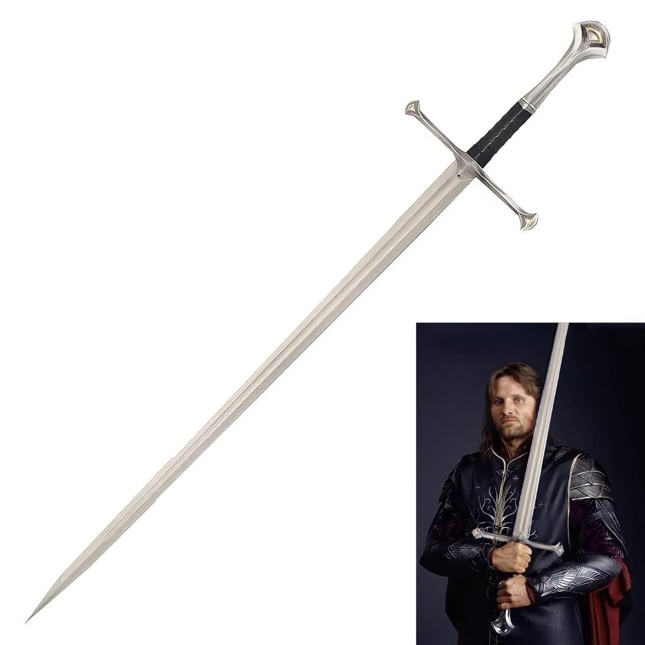 Espada Anduril : O Senhor dos Anéis (The Lord of the Rings) - Preta