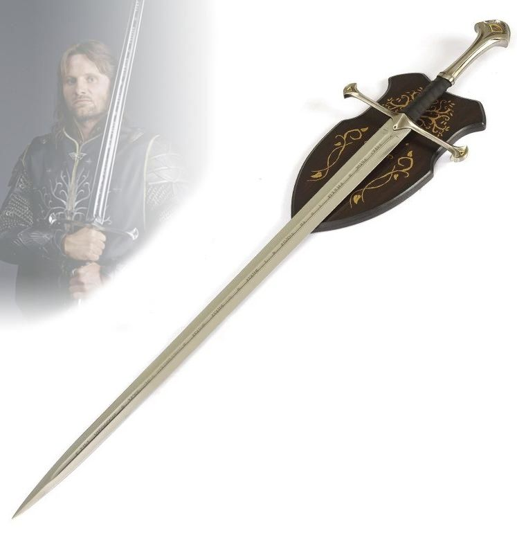 Espada Aragorn (Anduril): O Senhor dos Anéis (The Lord of the Rings)