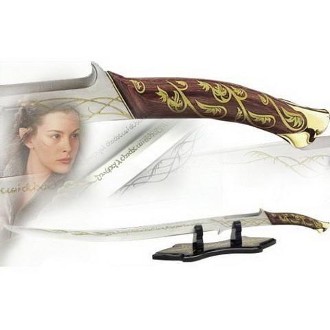 Espada Arwen (Hadhafang Sword): O Senhor dos Anéis (The Lord of the Rings) - (Com Suporte)