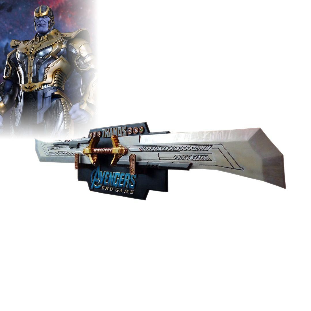 Espada Dupla Thanos: Vingadores Ultimato (Avengers Endgame) - (Com Suporte)