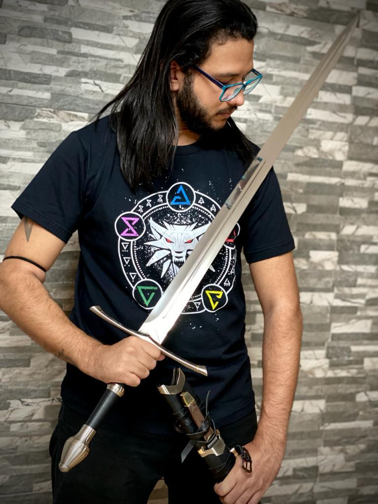 Espada Geralt de Rívia Espada De Aço Steel Sword: The Witcher 3 Wild Hunt