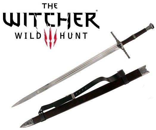 Espada Geralt de Rívia (Steel Sword): The Witcher 3 (Wild Hunt)