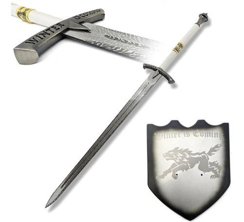Espada Ice Gelo Eddard Stark: Winter Is Coming Game Of Thrones com Suporte 114 cm