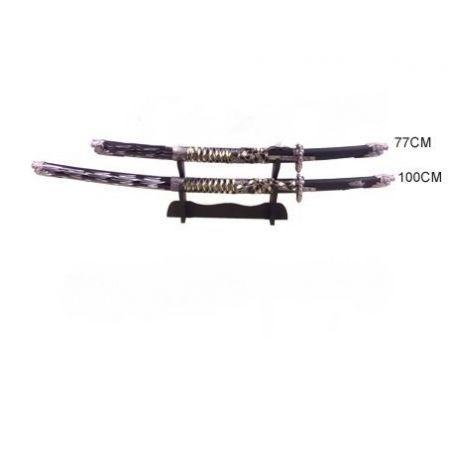 Espada Samurai Preta e cinza