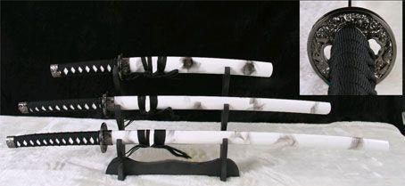 Espadas Katana: Samurai (Branco) (Set de 3)