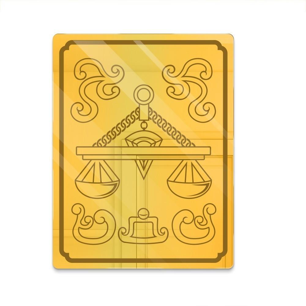 """Espelho Acrílico """"Caixa da Armadura de Ouro: Libra"""" - Os Cavaleiros do Zodíaco"""