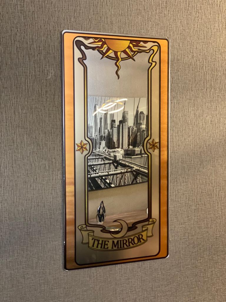Espelho Acrílico Carta Clow: Sakura Card Captors