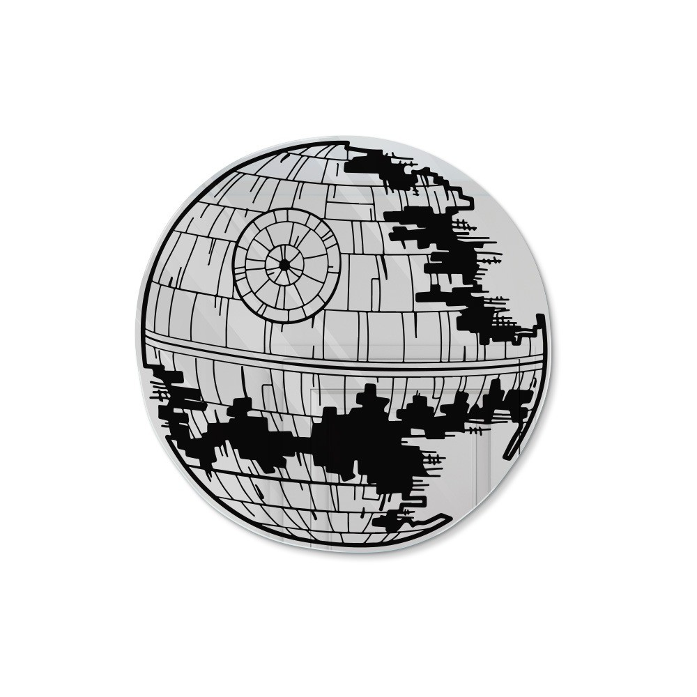 Espelho Acrílico Estrela da Morte: (Star Wars)