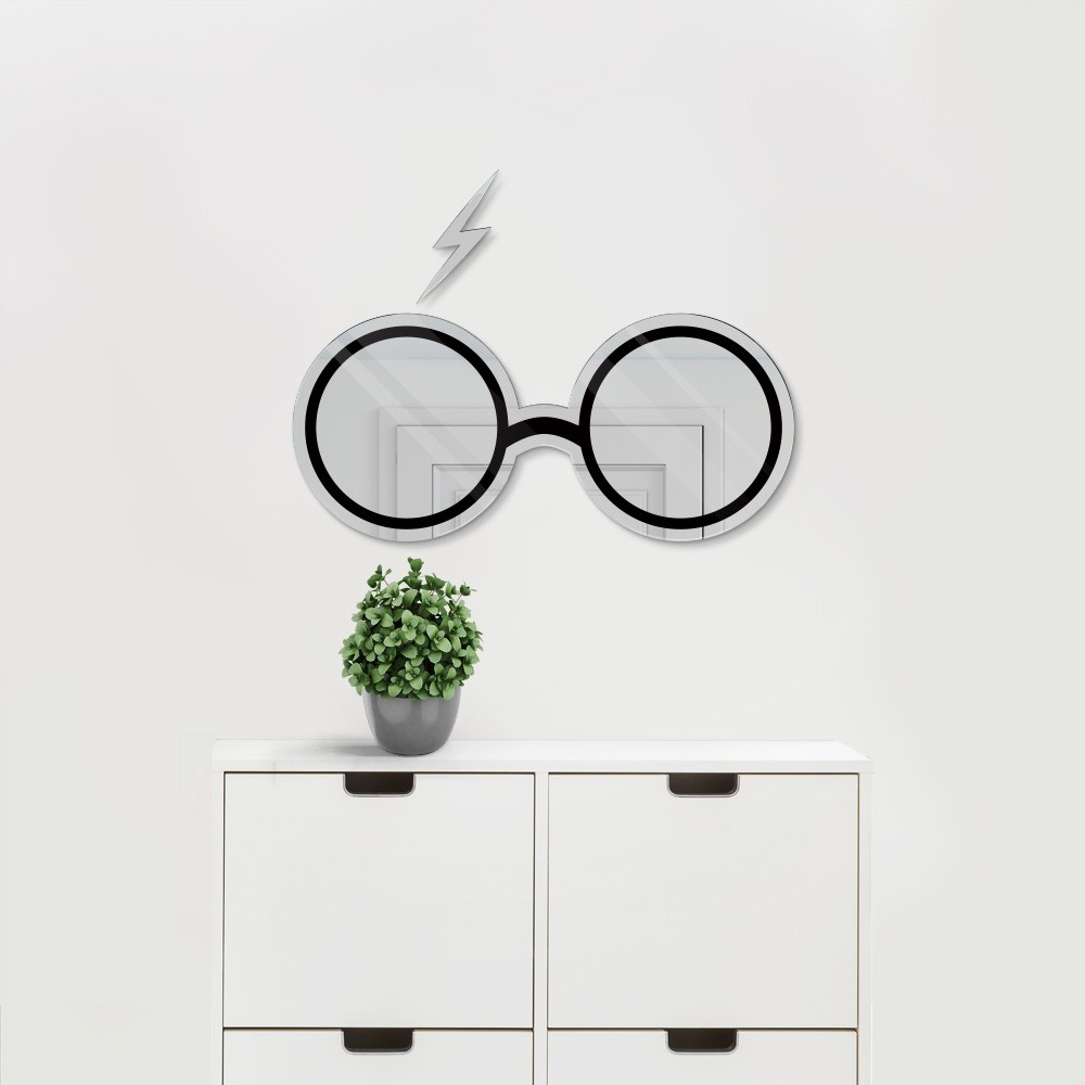 Espelho Acrílico Óculos Bruxo