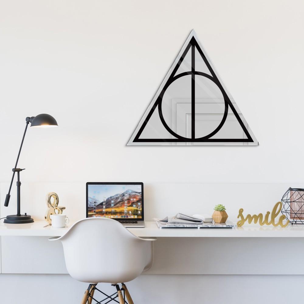 Espelho Acrílico Relíquias da Morte: Harry Potter