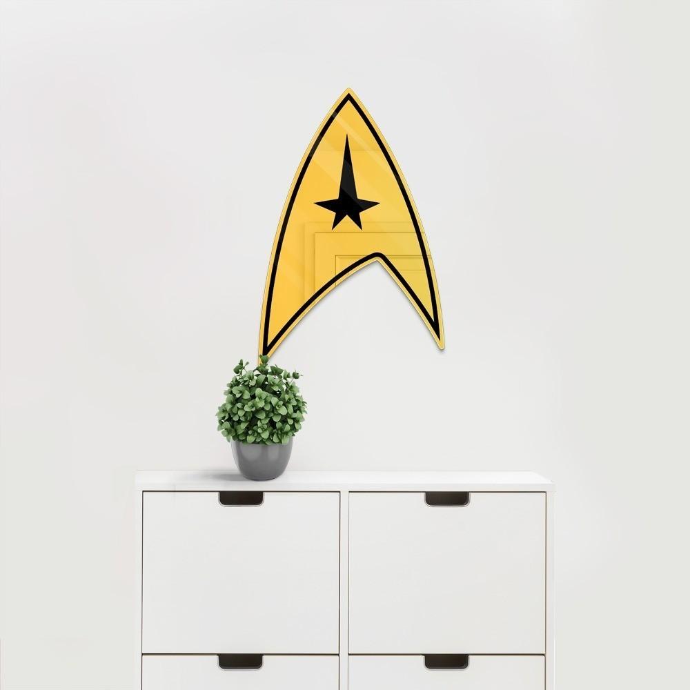 """Espelho Acrílico """"Star Mirror"""": Star Trek"""
