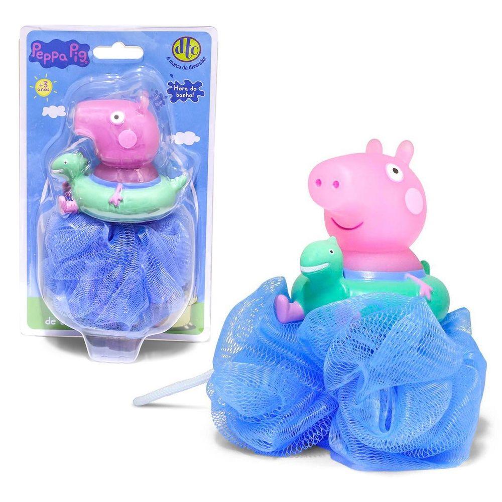 Esponja Hora Do Banho George: Peppa Pig - DTC