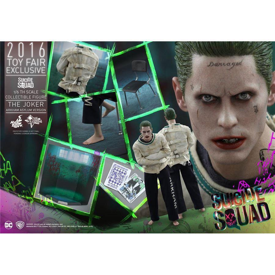 Action Figure Coringa (Joker) Versão Arkham Asylum: Suicide Squad (Esquadrão Suicida) MMS373 ( Escala 1/6) - Hot Toys - CDL
