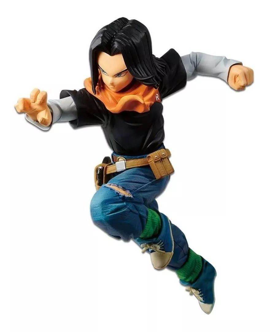 Estátua Android 17 Battle Fighterz: Dragon Ball Super Anime Mangá - Banpresto Bandai