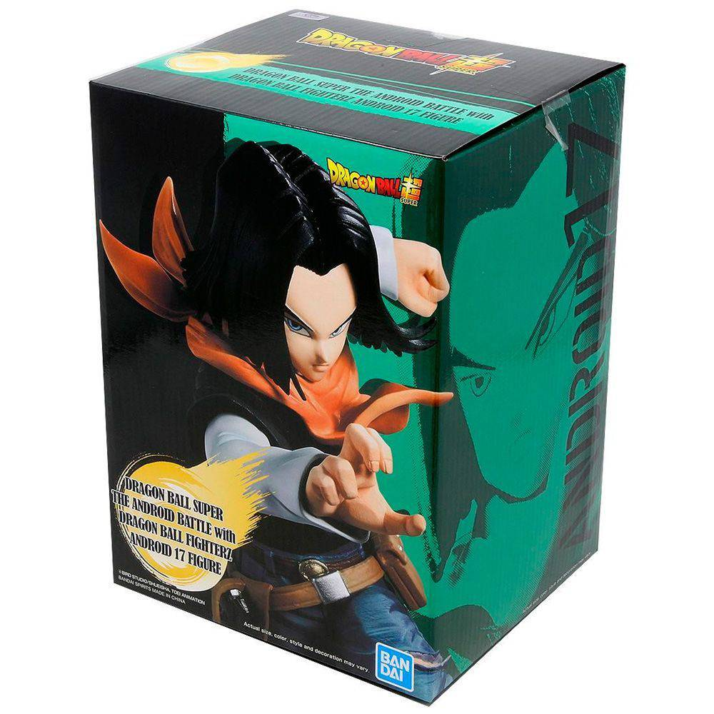 Estátua Android 17 Battle Fighterz: Dragon Ball Super Anime Mangá - Banpresto Bandai