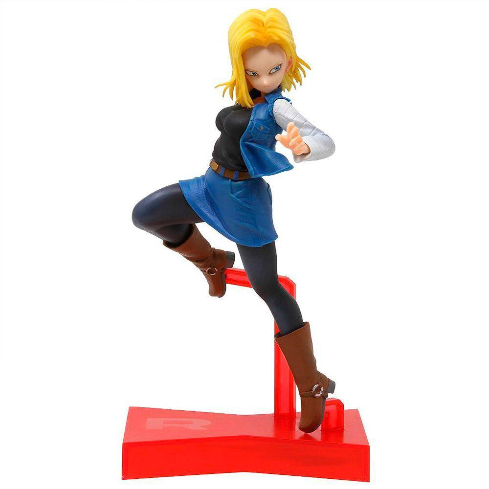 Estátua Android 18 (Battle Fighterz): Dragon Ball Super Anime Mangá - BanPrestp Bandai