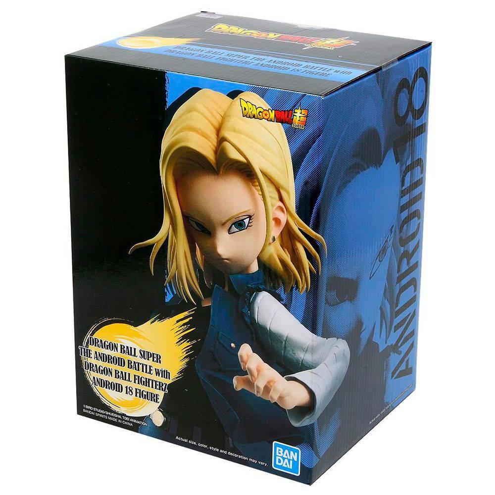Estátua Android 18 (Battle Fighterz): Dragon Ball Super Anime Mangá - BanPrestp Bandai