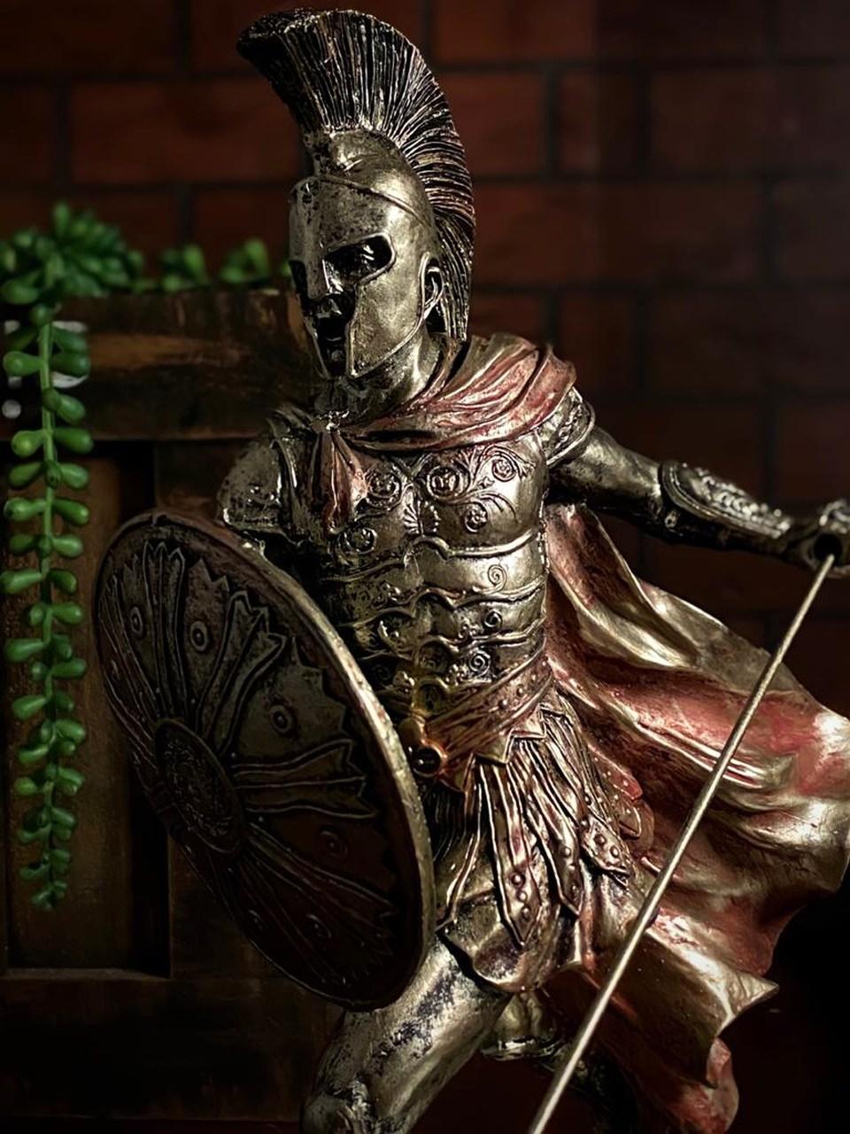 Estátua Aquiles Achilles Herói da Grécia 28 cm - LXT