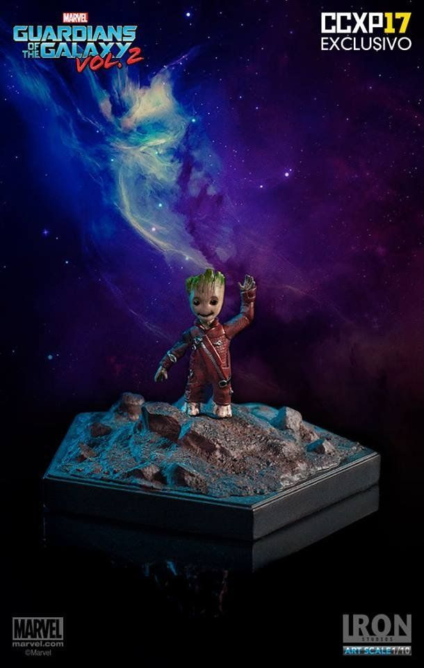 Estátua Baby Groot 1/10 (Exclusivo CCXP 2017): Guardiões da Galáxia Vol.2 - Iron Studios