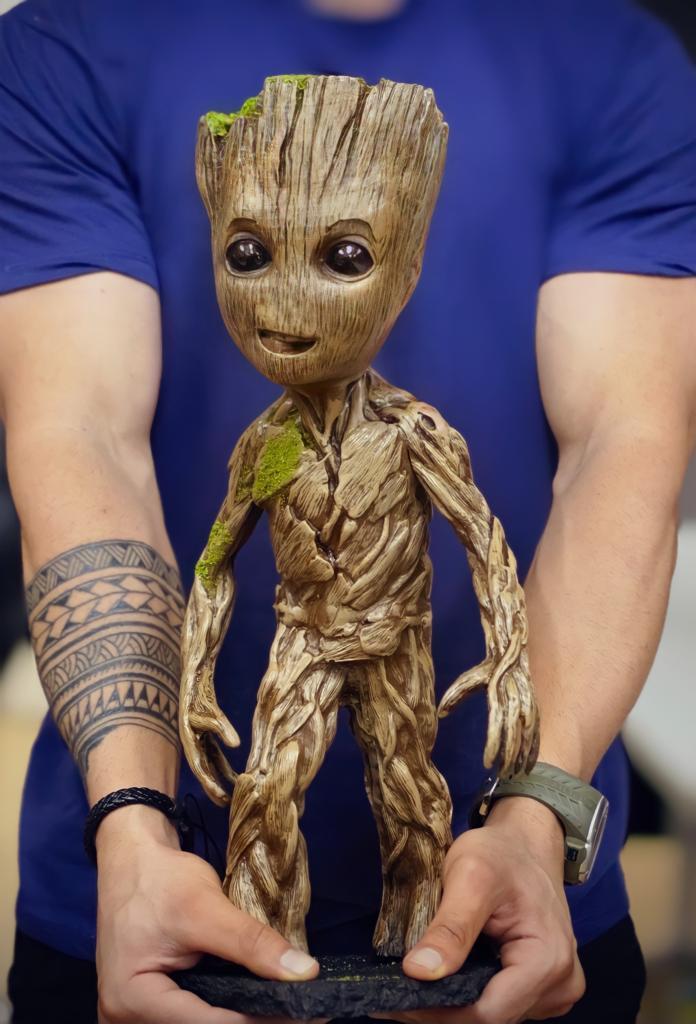Estátua Baby Groot: Guardiões da Galáxia Guardians Of The Galaxy Life Size Escala 1/1 - EV