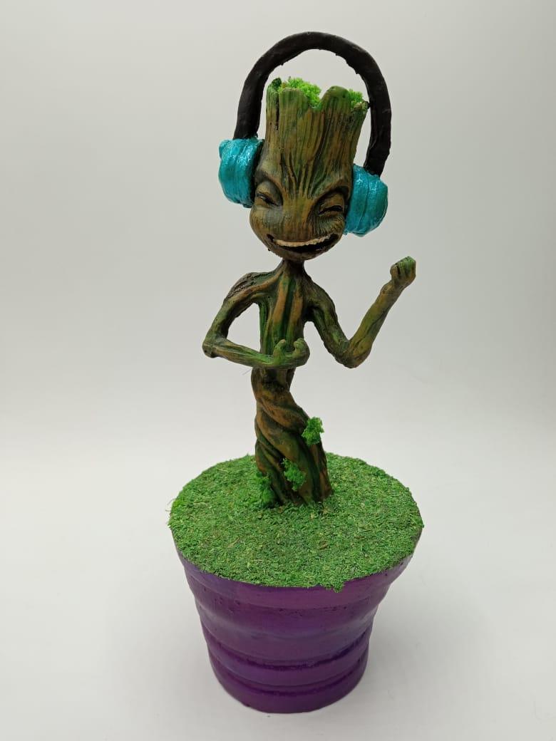 Estátua Baby Groot no Vaso Dançando Dancing Escala 1/4 - Fanatic Studios