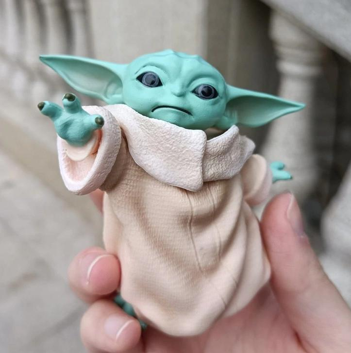 Estátua Baby Yoda Grogu: O Mandaloriano The Mandalorian Star Wars Disney+ - MKP