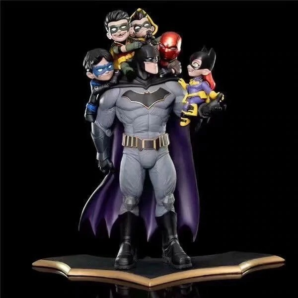Estátua Batman Family: Família DC Liga Da Justiça Cavaleiro Negro -  Quantum Mechanix QMX