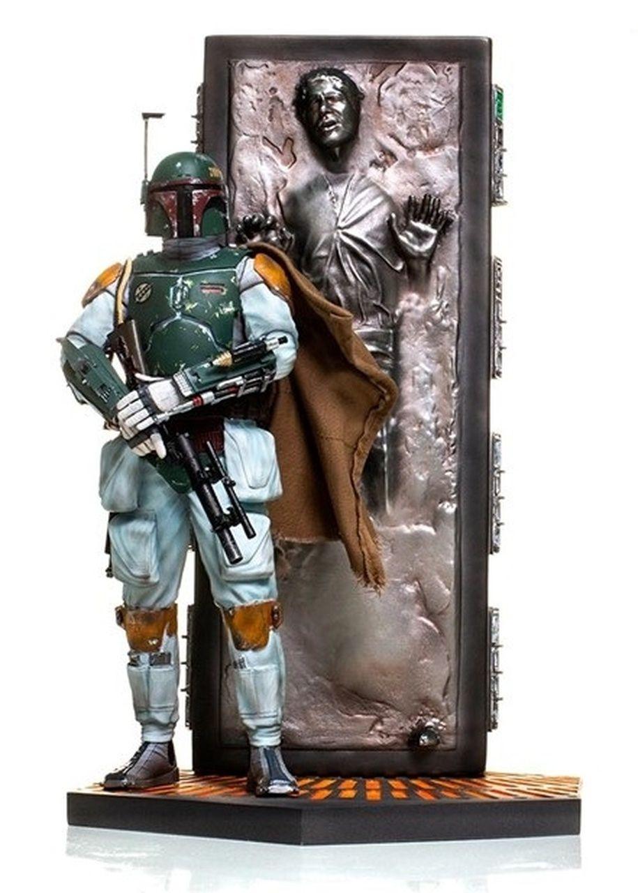 Estátua Boba Fett & Han Solo Carbonite: Star Wars (Deluxe Art Scale) (Escala 1/10) - Iron Studios