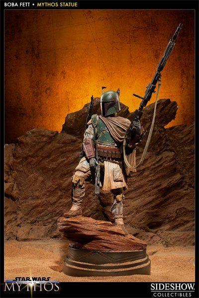 Estátua Boba Fett  (Mythos): Star Wars - Sideshow Collectibles - CG