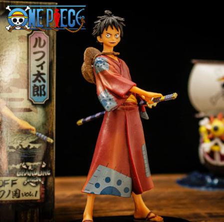 Estátua Boneco Colecionável Monkey D.Luffy: One Piece Anime Mangá - EVALI