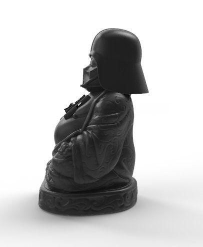 Estátua Buda Pop Darth (Preto Fosco)