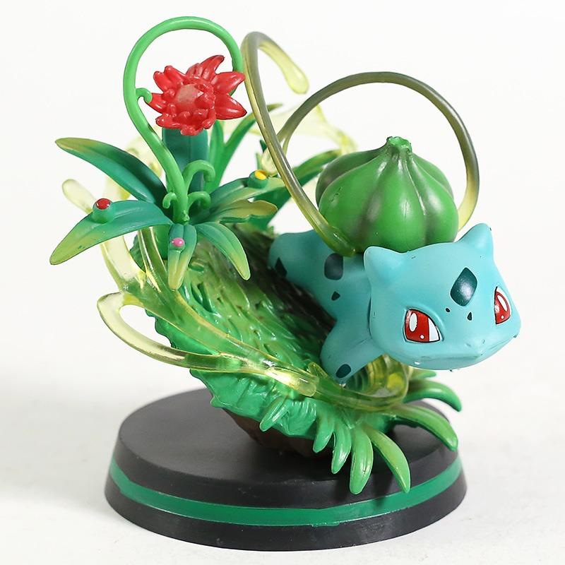 Estátua Bulbasaur Kanto Pokemon Red e Blue 11 cm - Anime Mangá