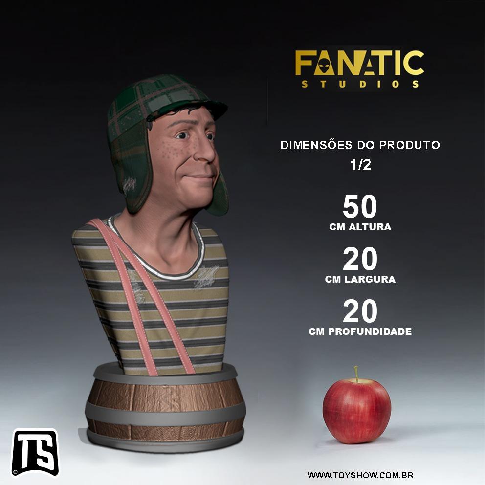 Estátua Busto Chaves: El Chavo Del Ocho  Escala 1/2 Legendary Edition - Fanatic Studios - EV