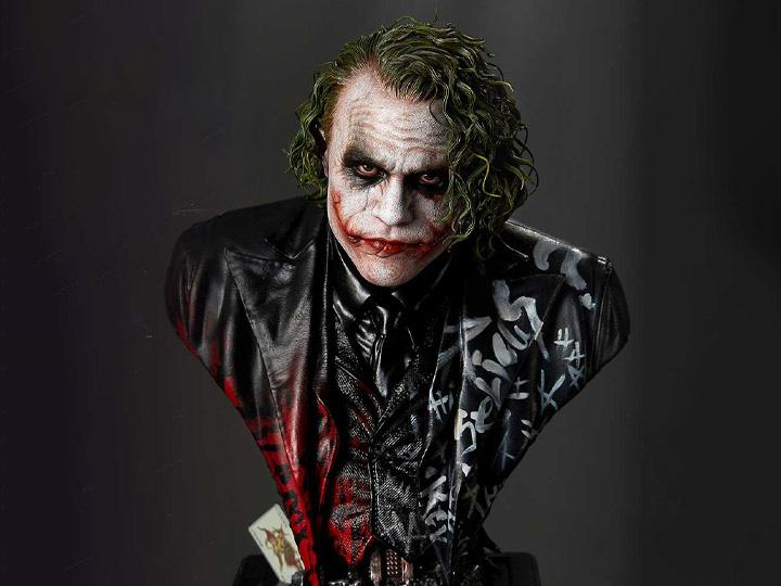 PRÉ VENDA: Busto Coringa The Joker: Batman: O Cavaleiro das Trevas The Dark Knight Museum Masterline Premium - DC Comics