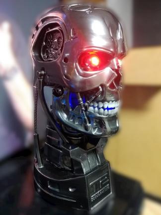 Estátua Busto Exterminador Terminator T800 - Exterminador Do Futuro 2 Terminator 2 Escala 1/1 - Fanatic Studios - EV