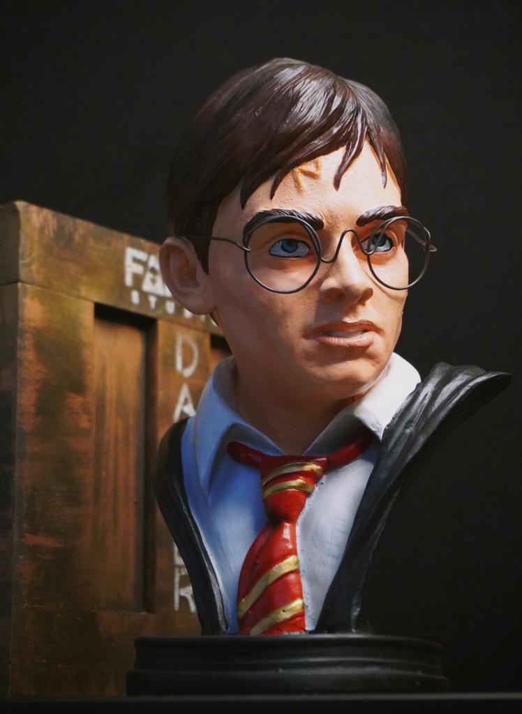 Estátua Busto Harry Potter Hogwarts: Harry Potter