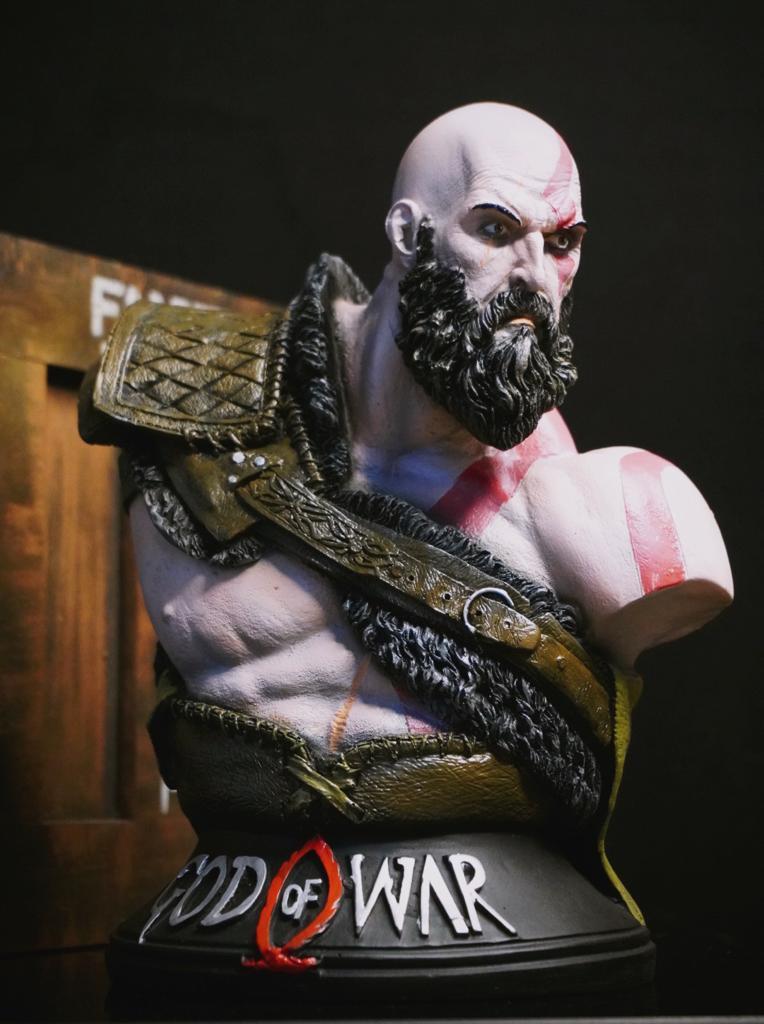Estátua Busto Kratos: God of War