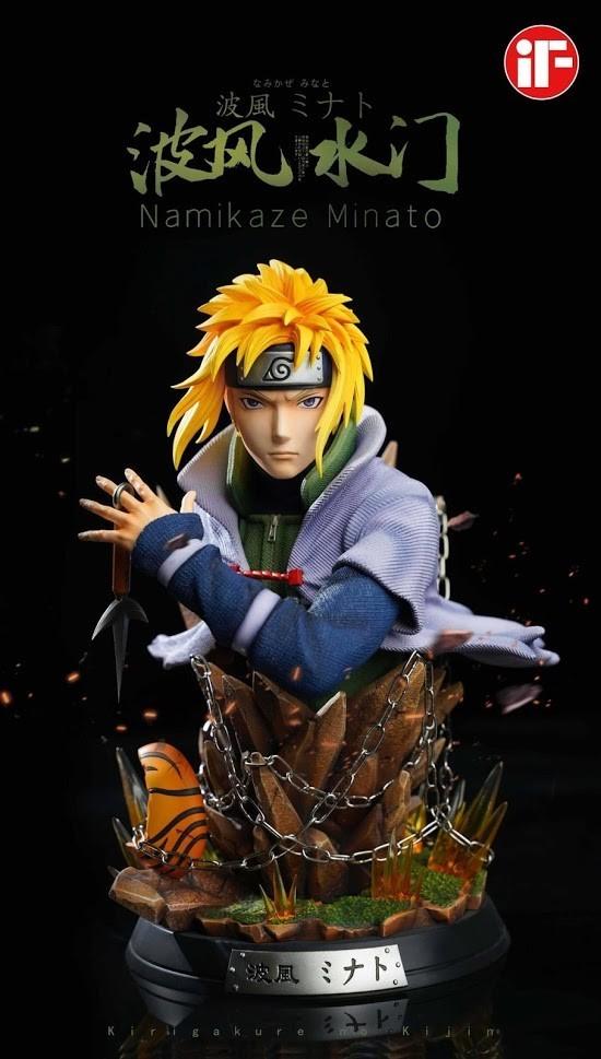 PRÉ VENDA: Estátua Busto Minato Namikaze: Naruto Shippuden Escala 1/4 - IF Studio