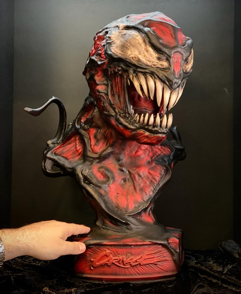 Estátua Busto Réplica Carnage: Venom Marvel Comics