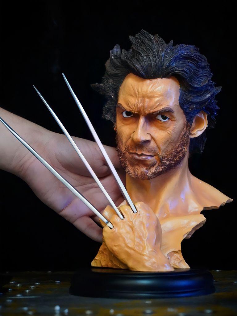 Estátua Busto Réplica Wolverine Logan: X-Men Marvel Comics Escala 1/3