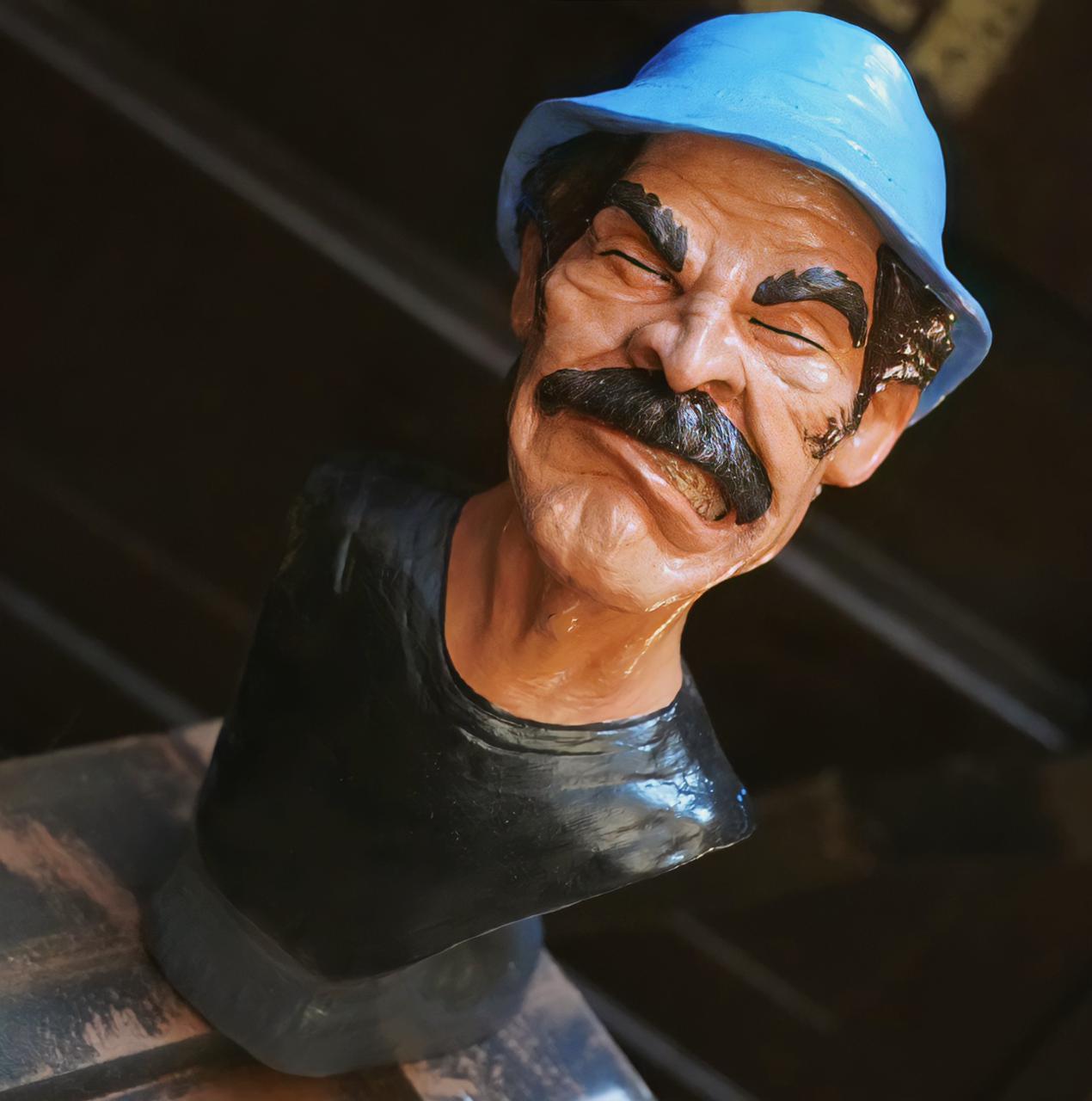 Estátua Busto Seu Madruga com Raiva: Chaves (15cm)