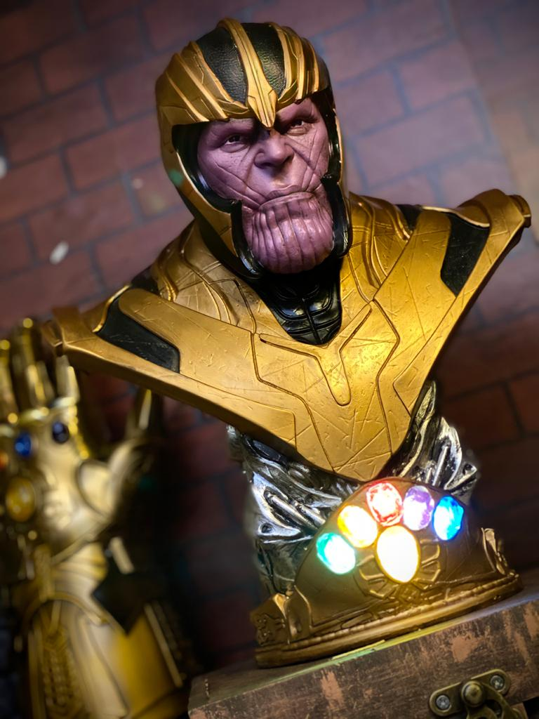 Estátua Busto Thanos: Vingadores Ultimato Avengers End Game Escala 1/6 - Marvel - EV