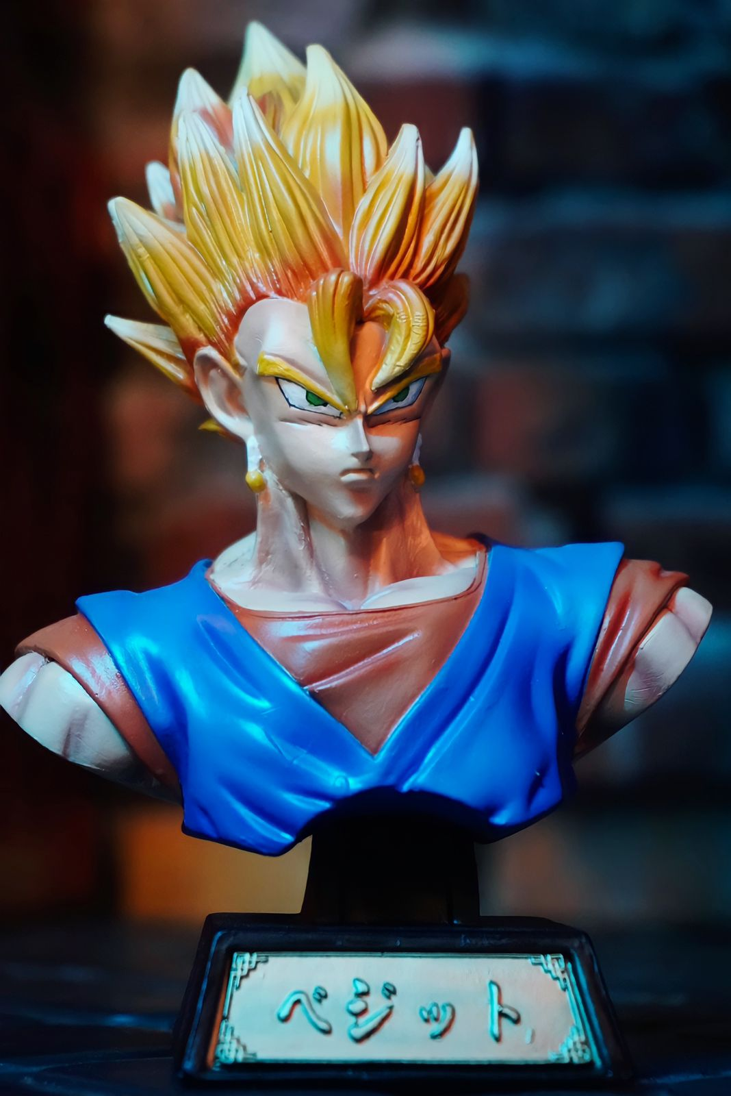 Estátua Busto Vegetto Super Saiyajin: Dragon Ball Z Anime Mangá