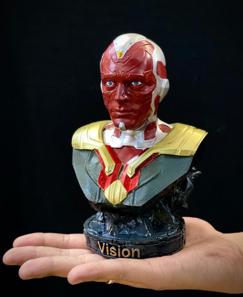 Estátua Busto Visão: Vingadores Guerra Infinita - EV