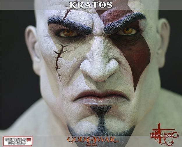 Estátua Bustos Kratos God Of War Life Size Bust Escala 1/1 - Gaming Heads