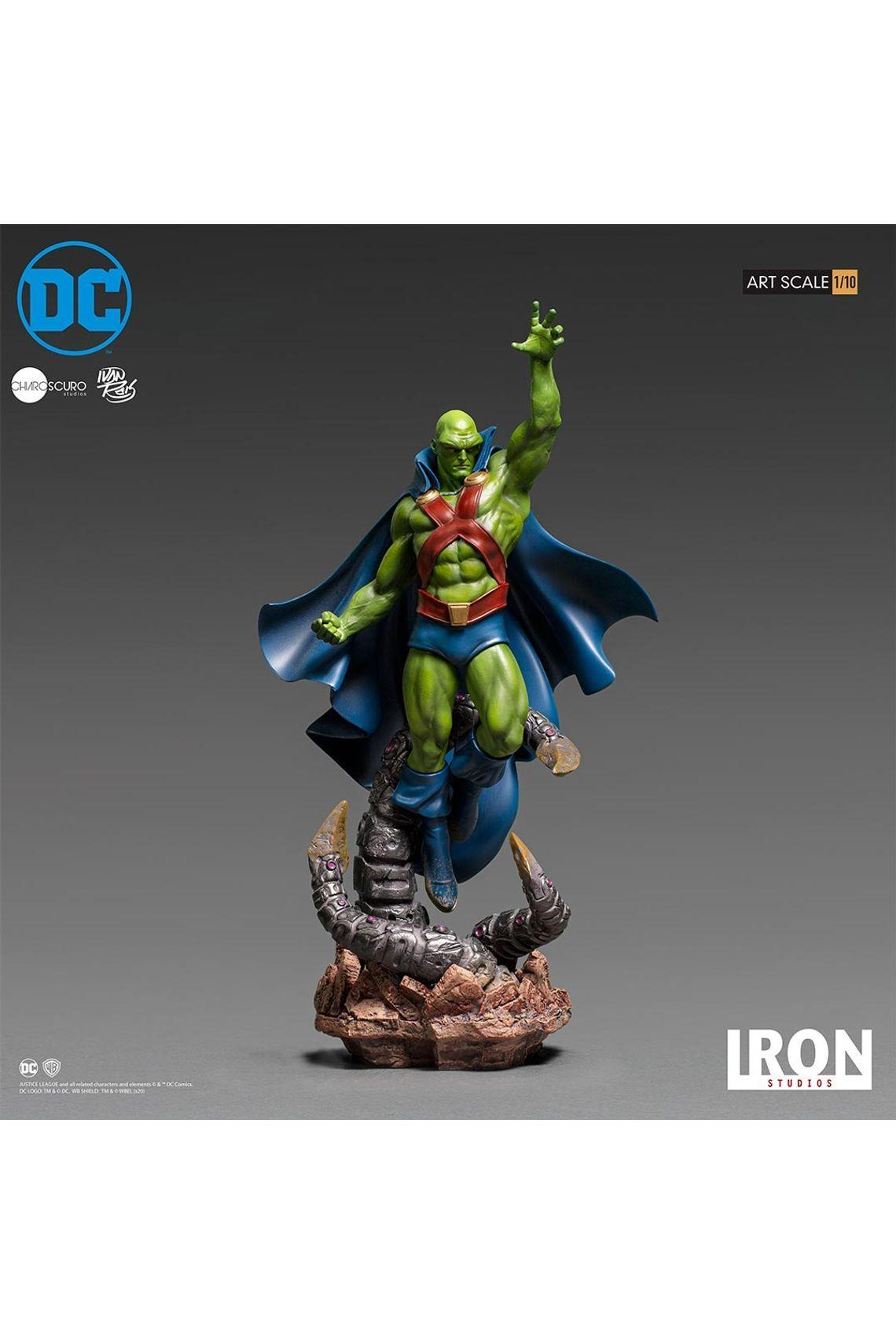 Estátua Caçador de Marte Martian Manhunter: Liga da Justiça Escala 1/10 DC Comics By Ivan Reis - Iron Studios