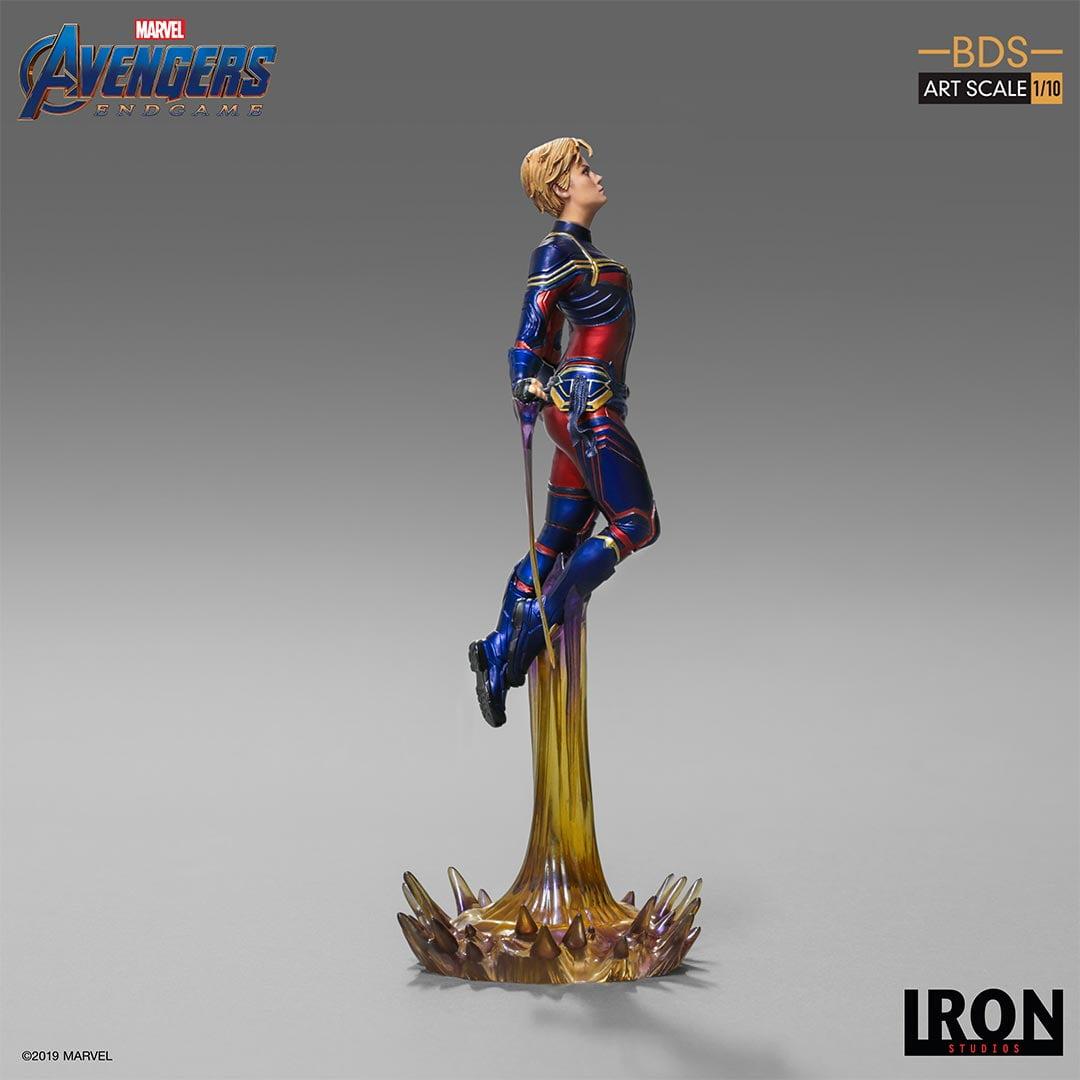 Estátua Capitã Marvel Captain Marvel: Vingadores Ultimato Avengers Endgame BDS Art Escala 1/10 - Iron Studio