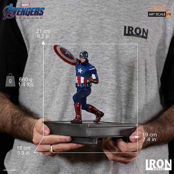 Estátua Capitão América Batalha em Nova York Battle of New York 2012 Vingadores Ultimato Avengers Andgame Marvel Escala 1/10 - Irons Studios